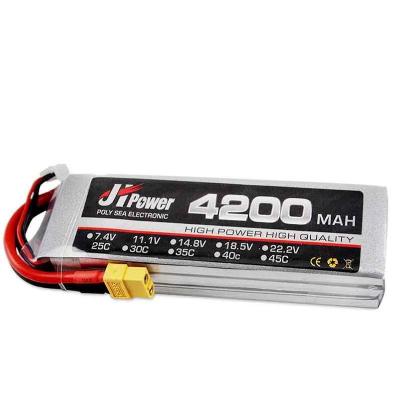 Haute puissance JH Lipo 11.1 v 4200 mAh 3 S 35C batterie XT60 Plug pour 1/10 RC voiture RC modèles jouets Lipo batterie mise à niveau 2019