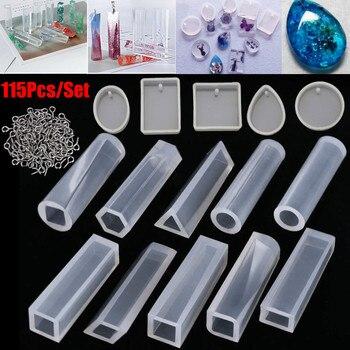 a5586072ce51 115 piezas DIY pulsera colgante joyería molde de fundición joyería moldes  de Resina de silicona ...