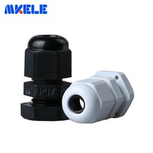 10pcs Electric Cable Gland PG7 Black White Plastic Nylon Waterproof Cable Glands Joints IP68 Cable Connector For 3-6.5mm Cable стоимость