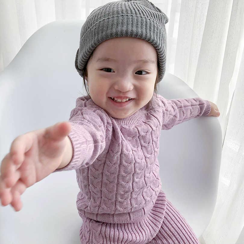 a9b2d221b ... Bebé recién nacido Bebé Ropa de Otoño de algodón de invierno tejer  jerseys manga larga + ...