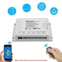 Sonoff 4CH R2/ Pro R2 Smart Wifi Switch Home 433MHz RF Wifi Light Switch 4 Gang 3 Working Modes Inching Interlock For Alexa