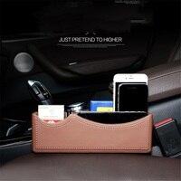 Storage Box Universal Car Organizer Seat Gap Leather Case Pocket Car Seat Side Slit For Wallet Phone Coins Cigarette Keys Cards