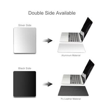 Tapis de souris en aluminium en métal tapis de souris mince magique lisse dur Double face étanche contrôle rapide et précis pour le bureau à la maison 1