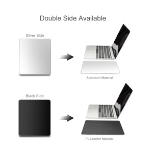 Image 2 - Metal Aluminum Mouse pad Mat Hard Smooth Magic Thin Mousead Double Side Waterproof Fast and Accurate Control for Office Home