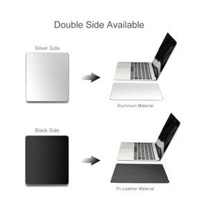 Image 2 - 금속 알루미늄 마우스 패드 매트 단단한 매끄러운 마술 얇은 Mousead 두 배 측 방수 사무실 가정을위한 빠르고 정확한 통제
