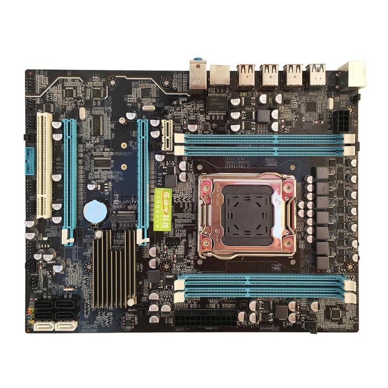 X79 Роскошные материнская плата LGA 2011Pin Процессор DDR3 4 * DDR3 DIMM USB3.0 SATA3.0 настольный компьютер Плата Поддержка M.2 E5 2680v2 I7 большой