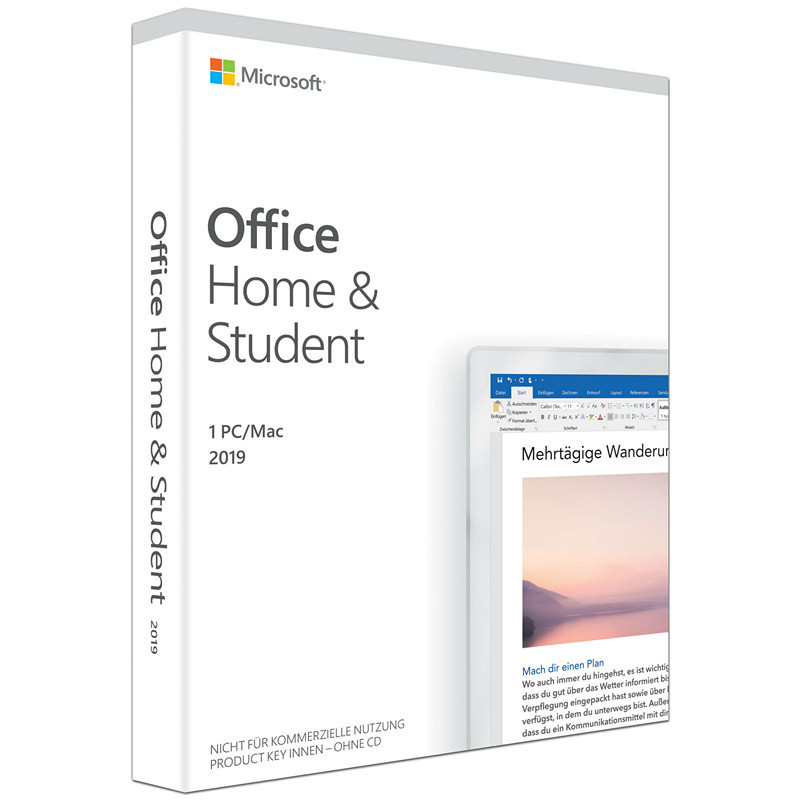 Image 3 - Microsoft Office Home and Student 2019 | 1 device, Windows 10 PC/Mac Product Key Card