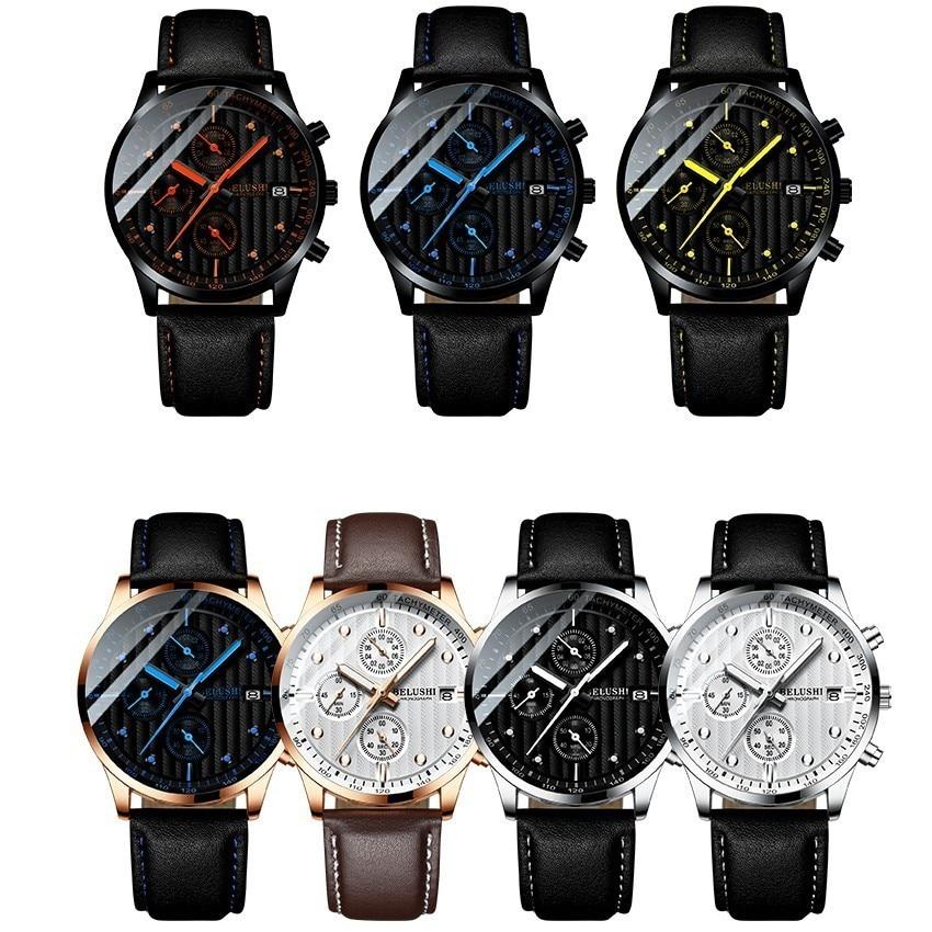 Luxury Men s Quartz Watch Sport Casual Wristwatch Men Military Watches Clock Man Leather Wrist Watch Luxury Men's Quartz Watch Sport Casual Wristwatch Men Military Watches Clock Man Leather Wrist Watch Date Waterproof 30M Relogio