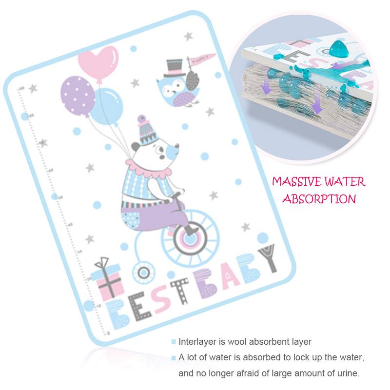 The New Mattresses Infant Waterproof Mattresses Newborn Washable Mattress Pads Baby Cartoon Bed Sheet Children Game Floor Mats