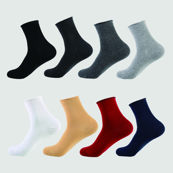DONG AI Thickened Ankle Men Bamboo Socks Plain Color Roll Mouth Soft Hand Linking Comfortable Excellent Ductility