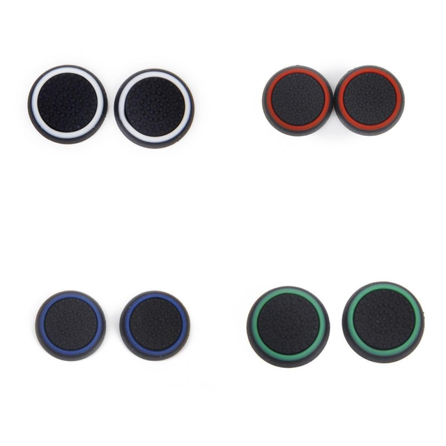 4 Pair Game Joystick Thumbstick Caps for PlayStation 4 PS4 Controller