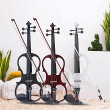 4/4 электрическая акустическая скрипка липа скрипка со скрипой чехол Крышка бант канифоль для музыкальный струнный инструмент любителей начинающих