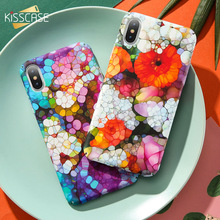 KISSCASE Phone Case For iPhone 6 6S Plus Tropical Leaves Flamingo Matte Hard PC Case For iPhone X 6 7 8 Plus Back Cover Fundas protective matte pc back case for iphone 6 4 7 black red