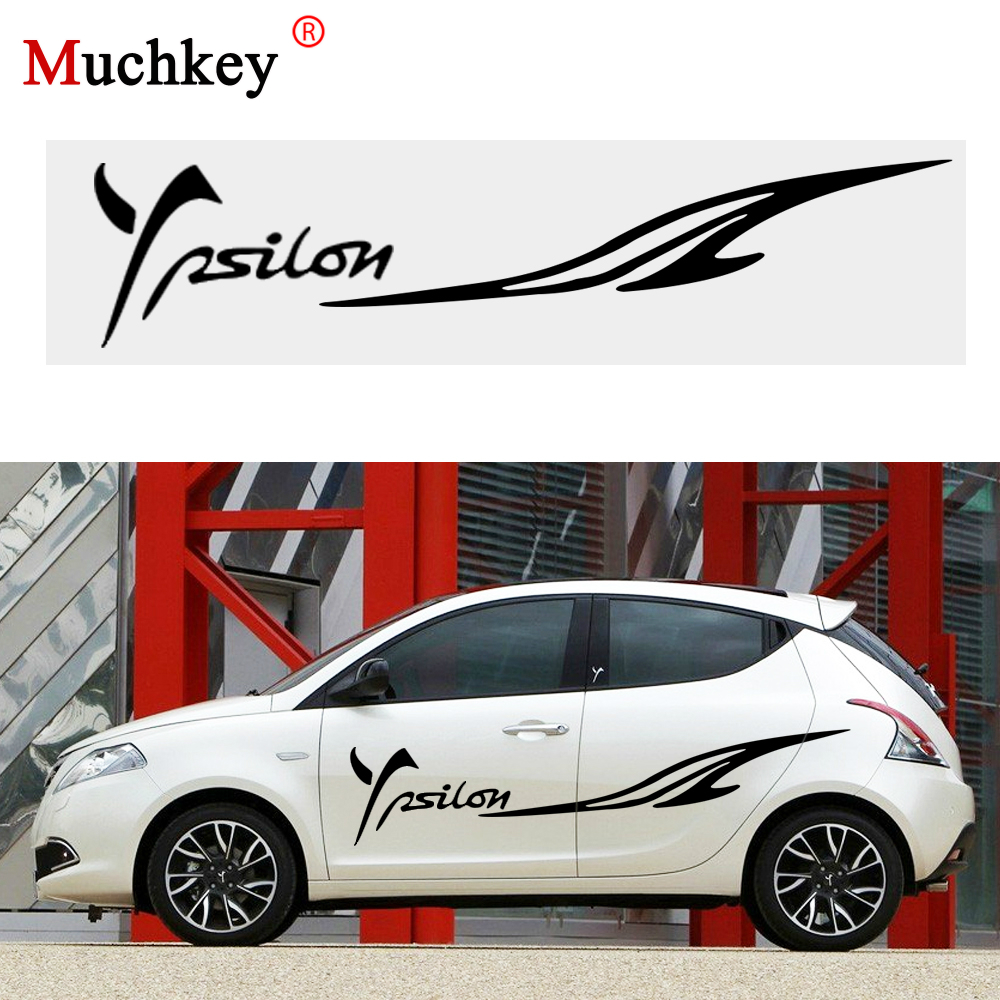 Car Styling Decoration Sticker for LANCIA Ypsilon Car Side Body Decal Sticker for Hatchback Sedan Decals Auto Part DIY 180CM