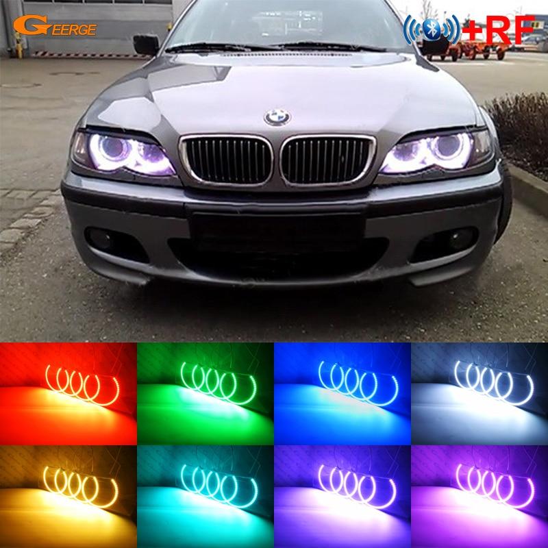 Pour BMW E36 E38 E39 E46 3 5 7 série phare xénon RF contrôleur Bluetooth multicolore Ultra lumineux RGB LED Angel eyes kit