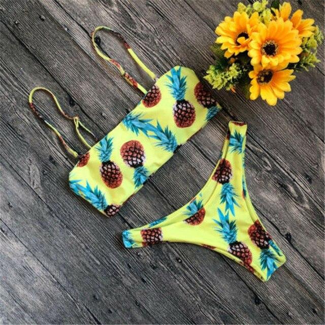 Фото купальник 2019 женский купальный костюм женское бандажное бикини цена