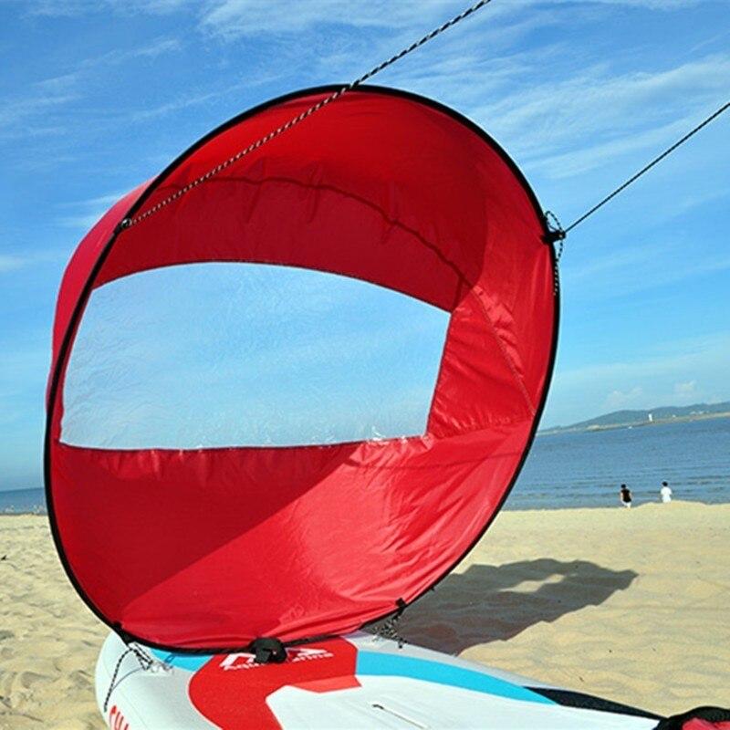 "46"" Popup Kayak Wind Paddle Sail Folding Kayak Downwind Kit Canoes Inflatable Boats Kayak Board Sailboat Wind Sail 118x118cm"