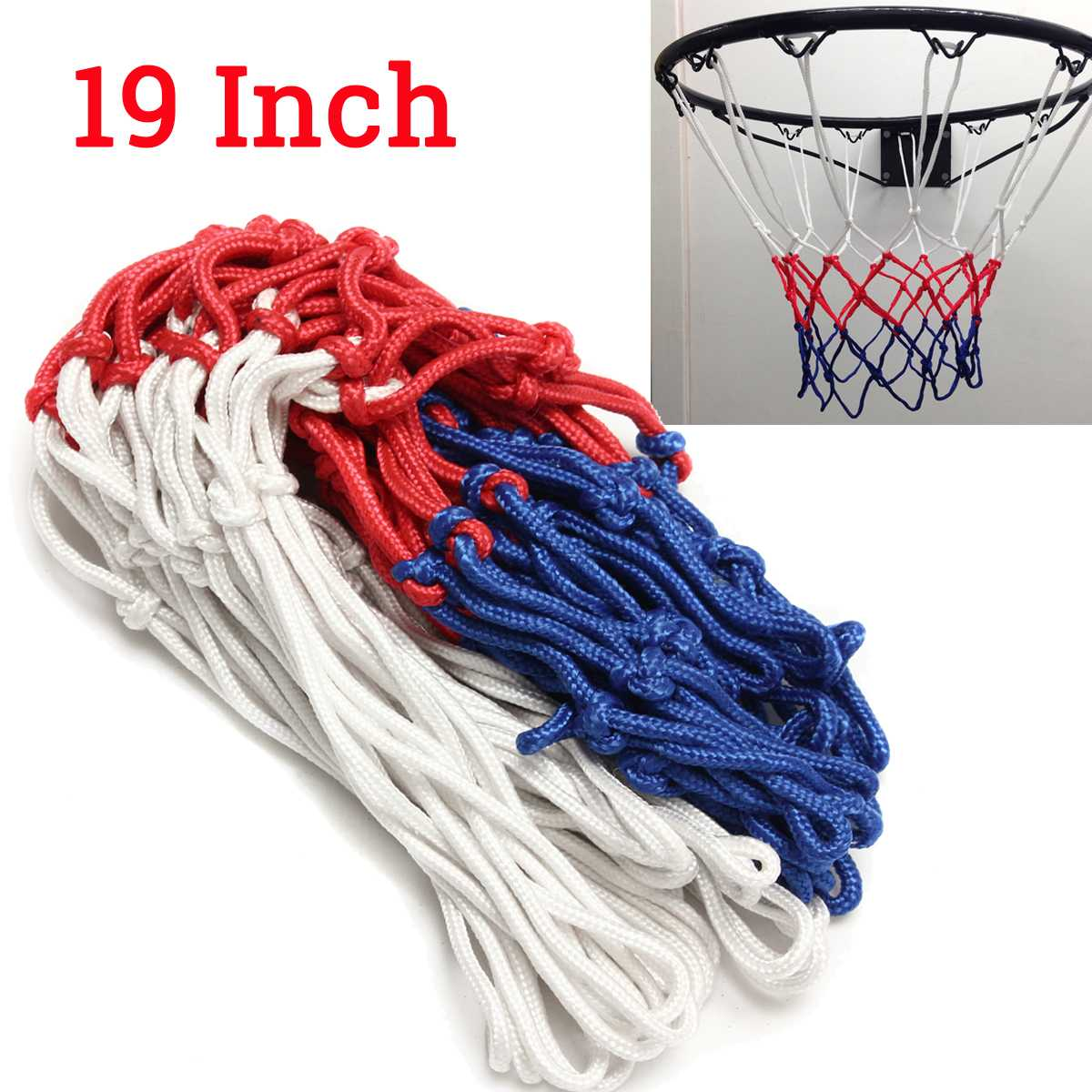 6mm Basketball Rim Mesh Net Durable Basketball Net Heavy Duty Nylon Net Hoop Goal Rim Mesh Fits Standard Basketball Rims