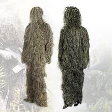 Camouflage Hunting Ghillie Suit Secretive Hunting Aerial Shooting Clothes Sniper Suits Camouflage Clothing With Cover Bags(China)