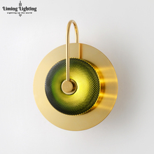 купить Modern LED Brass Glass Wall Lights Corridor Wall Lamp Cafe Bathroom Lighting Bedside Stairs for Home Living Room Bedroom Light дешево