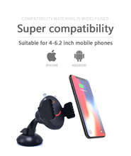 QI Fast Wireless Charger Car Phone Charger Holder Mount For Samsung Galaxy Note 9/8/7 S9/S9+/S8/S8 iPhone Xs/Xs Max/Xr/X/8 Plus phone camera lens 9 in 1 phone lens kit for iphone x xs max 8 7 plus samsung s10 s10e s9 s8