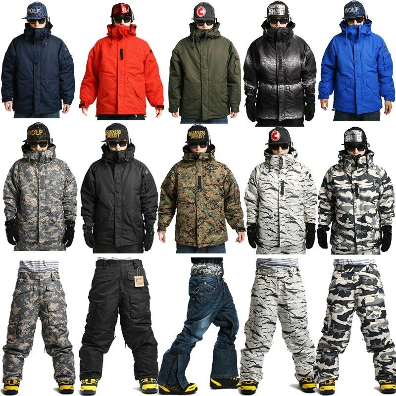 Pêche d'hiver en plein air chasse Ski équitation 10,000mm imperméable Ski Snowboard réchauffement Multi Camo militaire vestes de neige pantalon