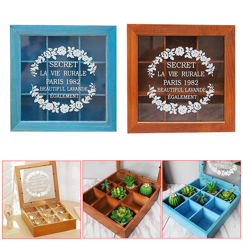 Retro Home Storage Wooden Box for Tea Organizer Candy Food Desk Table Container WXV Sale