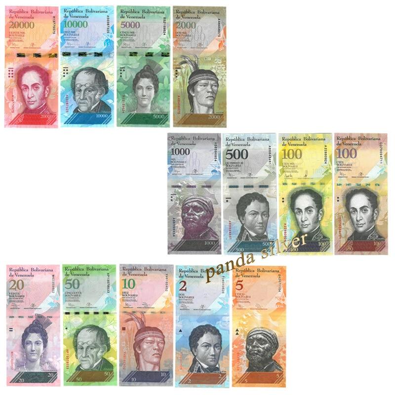 2007-2017,UNC Venezuela Full Set 12 PCS 2-100 500-20000 Bolivares