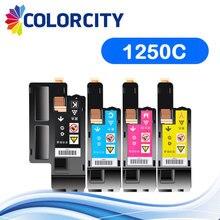1 цветной совместимый тонер-картридж Замена для Dell 1250c 1350cnw 1355cn 1355cnw C1760nw C1765nf принтер, BK/C/Y/M