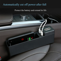 Black Wireless charging Car Seat Crevice Storage Box multi function For Books Phones Cards Cigarette Coins