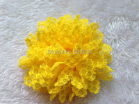 дети аксессуары для волос 20 шт./лот поделки девочки 4-дюймовый сетки шнурка ткани корсаж цветы для повязки па задней обувь цветок
