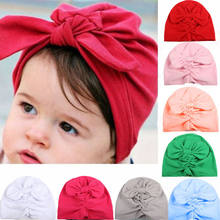Baby Boy Girl Infant Newborn Winter Warm Beanie Cotton Wrapped Cap Turban Hat Party Hats(China)