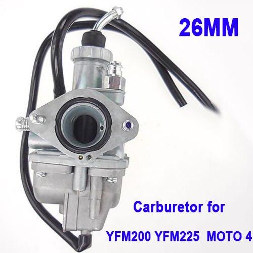 El mejor carburador de 26mm para Yamaha Moto 4 YFM 200 225 YFM200 YFM225 125 CC motor G