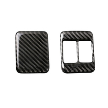 For Toyota 86 Subaru BRZ 2013 2014 2015 2016 2017 Carbon Fiber Seat Heating Button Frame Cover