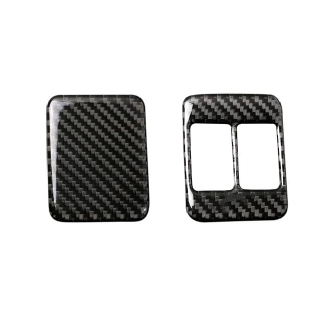 For Toyota 86 Subaru BRZ 2013 2014 2015 2016 2017 Carbon Fiber Seat Heating Button Frame Cover