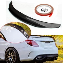 Real Carbon Fiber Performance trunk spoiler wing Highkick Trunk Spoiler Wing for Mercedes for Benz W205 C63 AMG PSM 2015-2017(China)