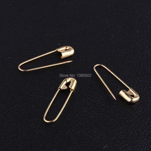 50pcs/lot gold color metal 23*5mm safety pins Brooch Pins for garment label  accessories
