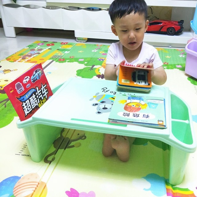 Kids Small Study Table With Storage Lap Laptop Desk
