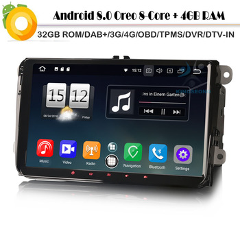 9Android 8.0 Autoradio Car stereo DAB+WiFi Radio BT OBD NAVI Car Multimedia Player For SKODA Fabia Octavia Roomster Superb Yeti image