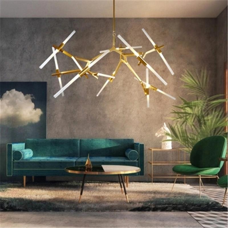 Radient Modern Led Chandelier Nordic Suspended Lamp Loft Deco Lighting Fixtures Living Room Suspension Luminaires Bedroom Hanging Lights Lights & Lighting