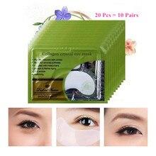 20 шт = 10 пар, красивые корейские косметические накладки, женские кристаллические коллагеновые патчи для удаления глаз, черная маска для ухода за кожей