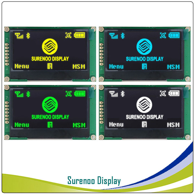 """Real OLED Display, 2.42"""" 128*64 12864 SPI I2C / IIC Graphic LCD Module Screen LCM Screen SSD1309 Controller"""