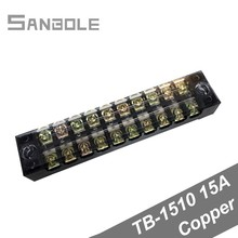 цена на TBC-1510/TB-1510 Terminal Block Fixed Type 15A 600V 10 Position Dual Row 0.5-1.5mm2 Connection Electrical Copper