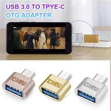 Mini Metal USB3.0 to Type-C OTG Adapter Smartphone/Tablet USB Female Cable Converter for Smartphones Computers