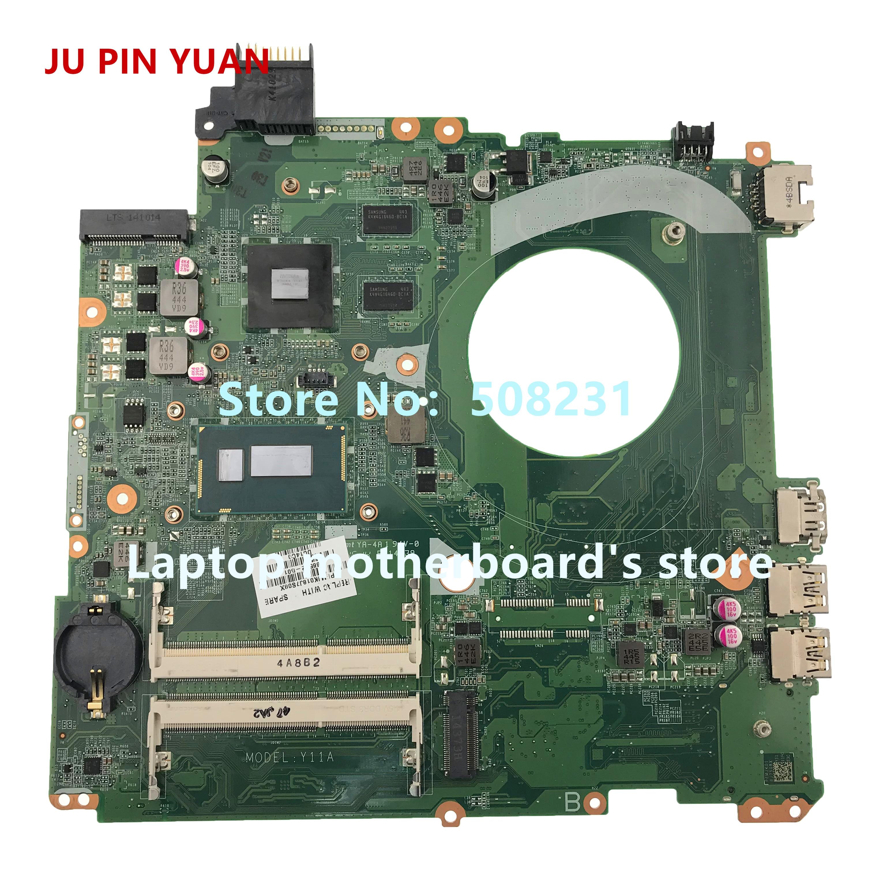 JU PIN YUAN 766592-501 766592-601 766592-001 DAY11AMB6E0 Para HP 15-K Laptop Motherboard com 840 m 2 gb i7-4510U totalmente Testado