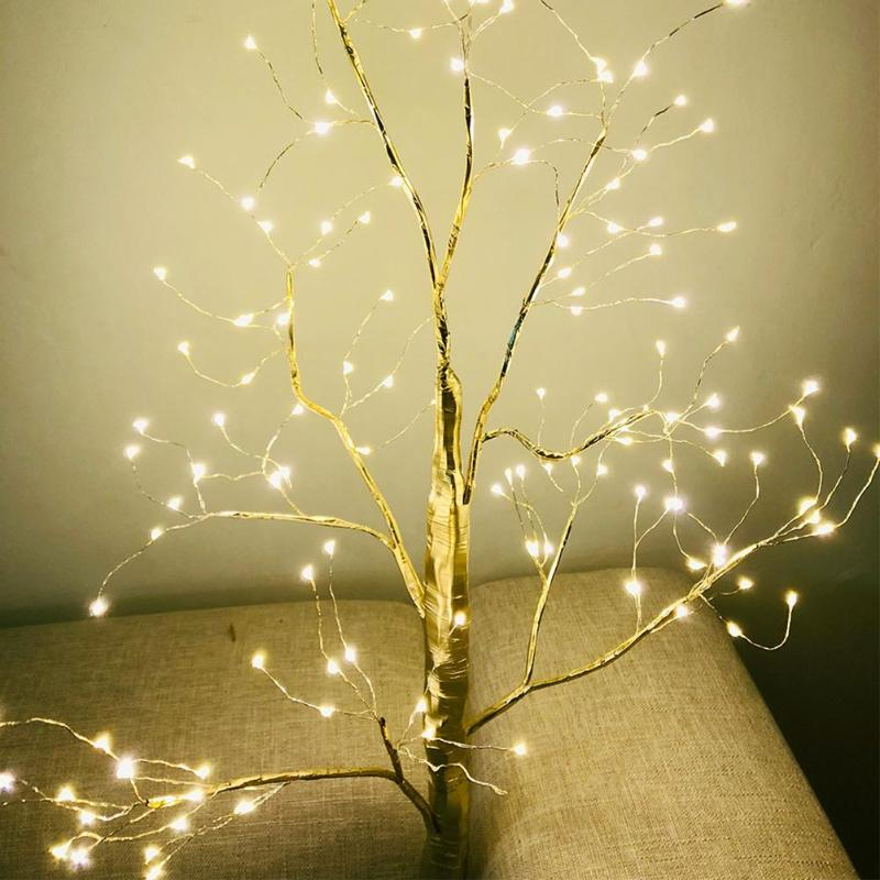 85cm Tree Lamp Night Light 150 LED Strings Copper Wire Tree Shape Decorative Light Fairy Lights Home Party Decoration Supplies