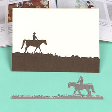 DUOFEN METAL CUTTING DIES S18082305 Horse Rider Border embossing stencil DIY Scrapbook Paper Album 2018 new