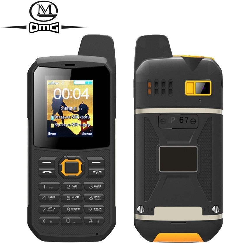 Russian Keyboard IP67 Waterproof Shockproof Mobile Phone Intercom Flashlight FM Dual SIM PTT Walkie Talkie Cell Phones F8