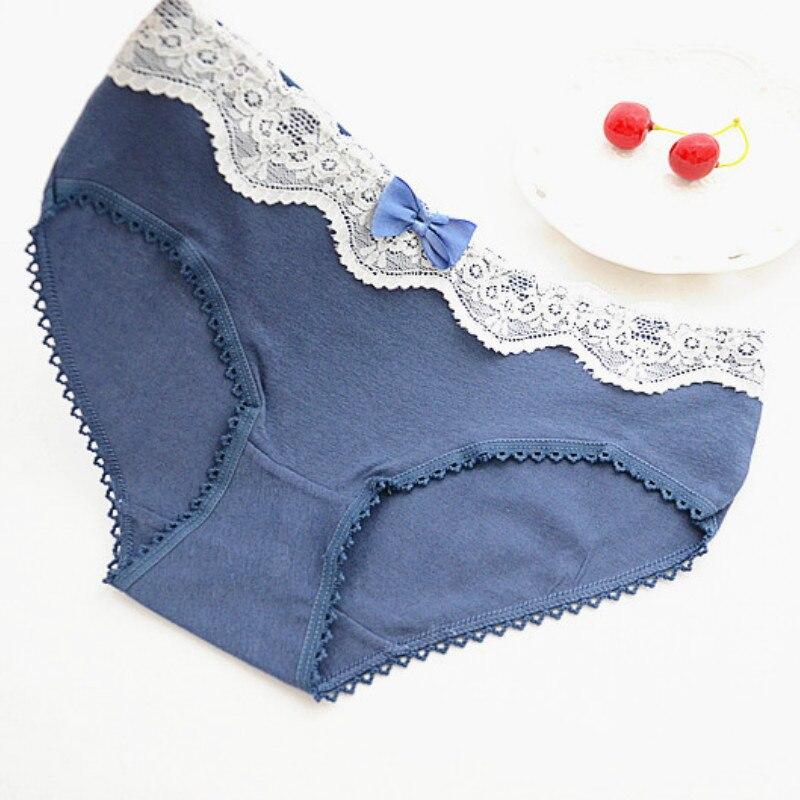 Купить с кэшбэком 5pcs/lot 2019 Autumn New Ladies Underwear Girls Teenage Underwear Panties Cotton Girl Short Briefs Lace Girls Underwear Fille