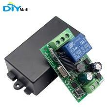 цена на DIYamll AC 85V 110V 220V Wireless Switch 1CH Relay Receiver Module for RF 433Mhz Remote Controls